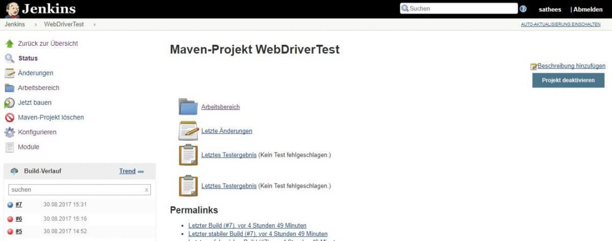 Maven Projekt WebDriver Test